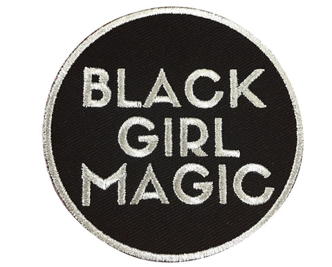 Black Girl Magic Patch - SILVER