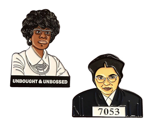 Be BOLD Lapel Pin Pack - Rosa & Shirley - Radical Dreams Pins