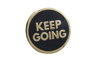 Keep Going Lapel Pin - Gold - Radical Dreams Pins