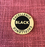 Black Excellence Spinning Lapel Pin