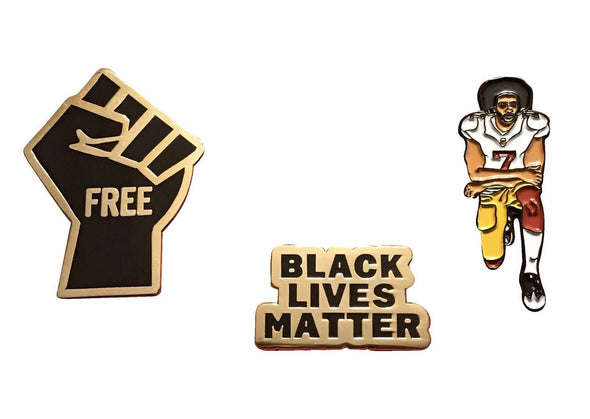 Freedom Pin Set - Freedom Fist, BLM, & Colin - Radical Dreams Pins