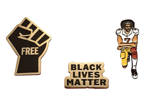 Freedom Pin Set - Freedom Fist, BLM, & Colin