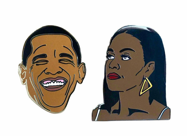 Barack & Michelle Obama Lapel Pin Pack