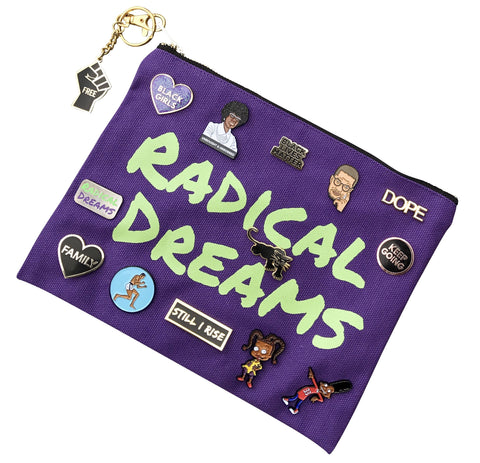 Zipper Pouch / Clutch Bag - Radical Dreams Pins