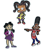 Black Cartoons Lapel Pin Set - Gerald, Penny, and Susie