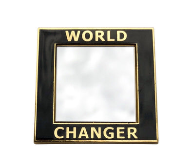 World Changer Mirror Lapel Pin - GOLD
