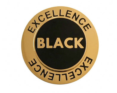 Black Excellence Spinning Lapel Pin - Radical Dreams Pins