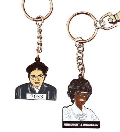 Be BOLD Keychain Pack - Rosa & Shirley - Radical Dreams Pins