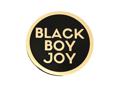 Black Boy Joy Lapel Pin - GOLD - Radical Dreams Pins