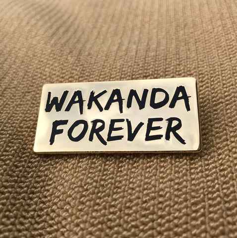 Black Panther Movie - Wakanda Forever Lapel Pin