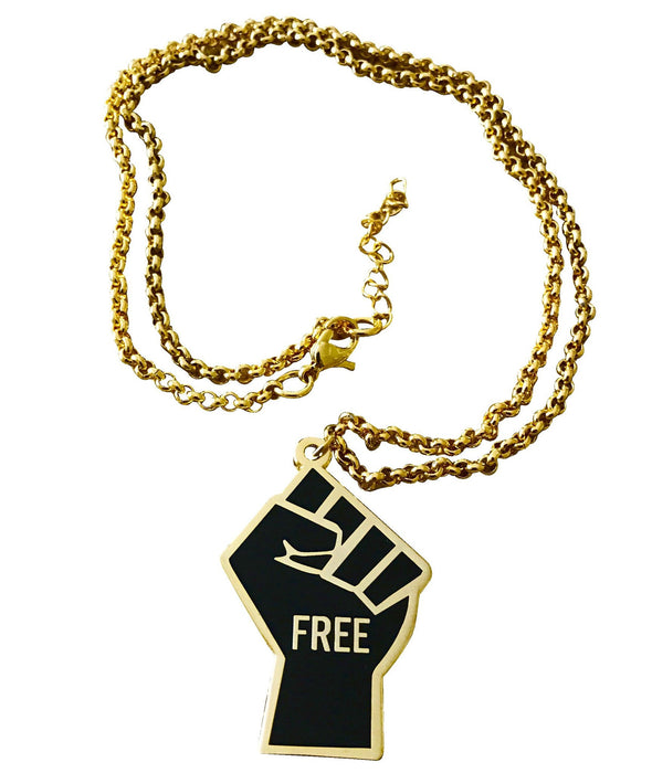 FREEdom Fist - Pendant Necklace - Radical Dreams Pins