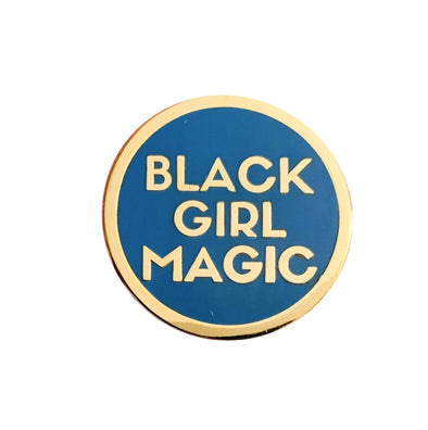 Black Girl Magic Lapel Pin - BLUE