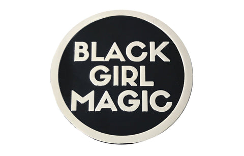 Black Girl Magic Lapel Pin - SILVER