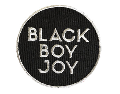 Black Boy Joy Patch - SILVER - Radical Dreams Pins