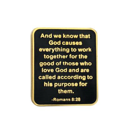 Romans 8:28 Lapel Pin