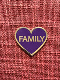 Family Lapel Pin - Purple