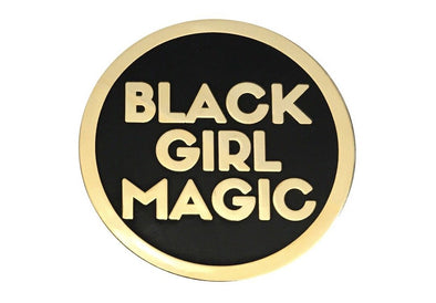 Black Girl Magic Lapel Pin - GOLD - Radical Dreams Pins