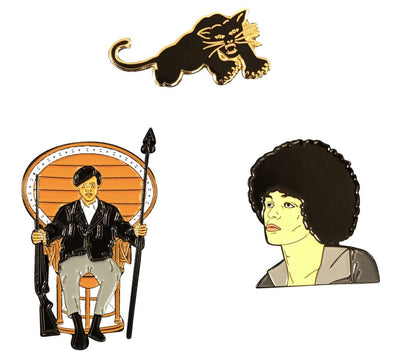 Black Liberation Series Pin Set - Panther, Angela, & Huey - Radical Dreams Pins