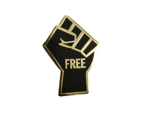 FREEdom Fist - 3D STICKER - Radical Dreams Pins