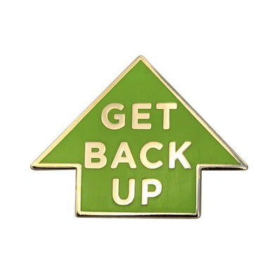 Get Back Up Lapel Pin