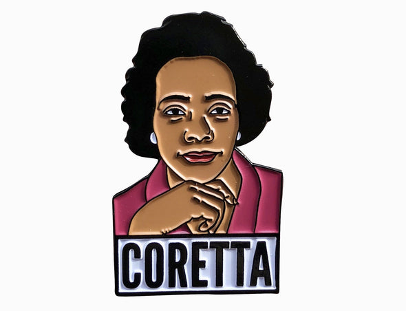 Coretta Scott King Lapel Pin - Radical Dreams Pins
