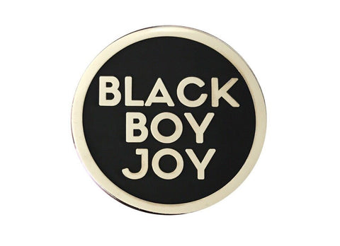 Black Boy Joy Lapel Pin - SILVER