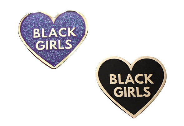 Love Black Girls Pin Pack - Black & Purple - Radical Dreams Pins