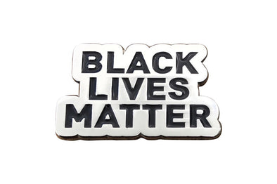Black Lives Matter Lapel Pin - Silver - Radical Dreams Pins
