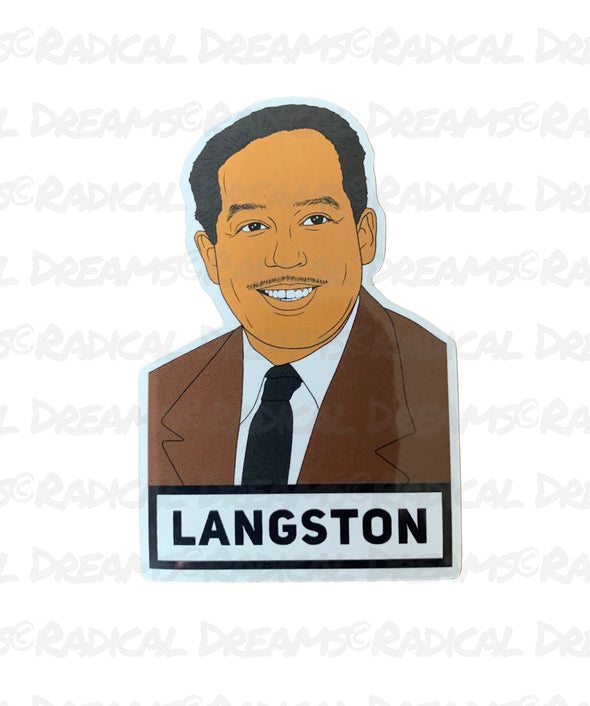 Langston - STICKER