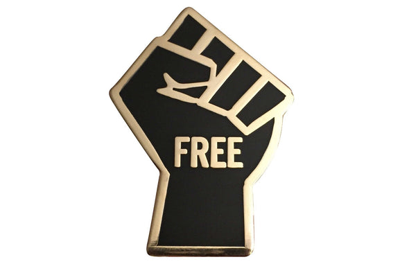 FREEdom Fist Lapel Pin - Radical Dreams Pins