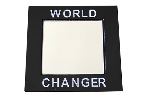 World Changer Lapel Pin - with Mirror - Radical Dreams Pins