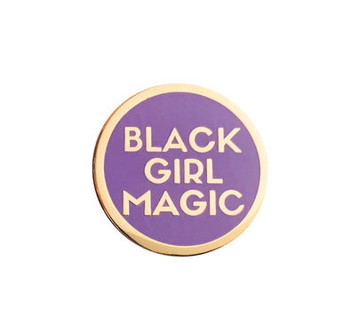Black Girl Magic Lapel Pin - LAVENDER