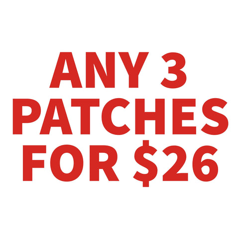Any 3 PATCHES for $26