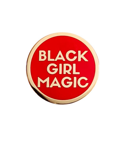 Black Girl Magic Lapel Pin - RED