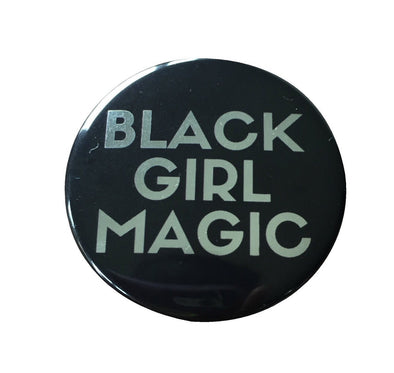 Black Girl Magic Button - SMALL - SILVER - Radical Dreams Pins