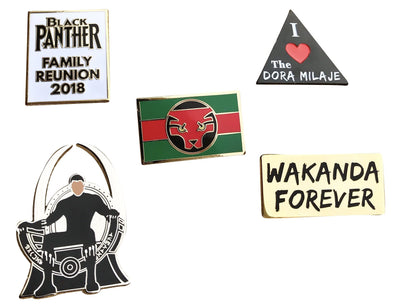 Black Panther Movie Complete Set - Radical Dreams Pins
