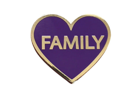 Family Lapel Pin - Purple - Radical Dreams Pins