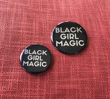 Black Girl Magic Button - SMALL - SILVER