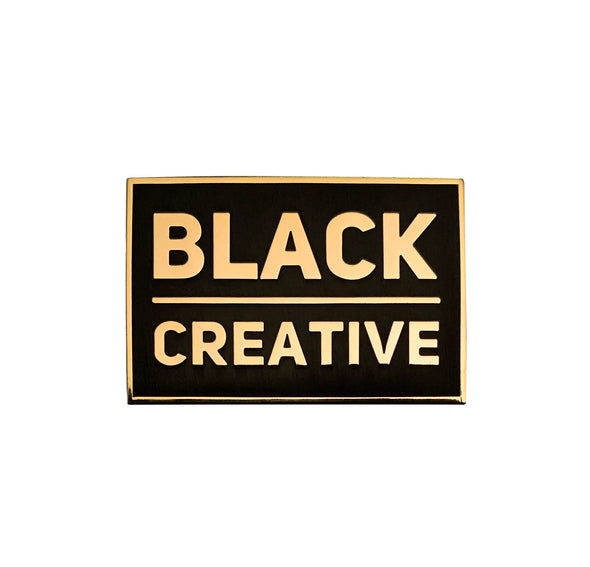 Black Creative Lapel Pin