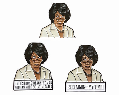 Complete Maxine Waters Lapel Pin Set - Radical Dreams Pins