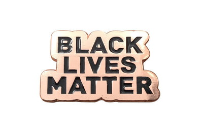 Black Lives Matter Lapel Pin - Rose Gold - Radical Dreams Pins