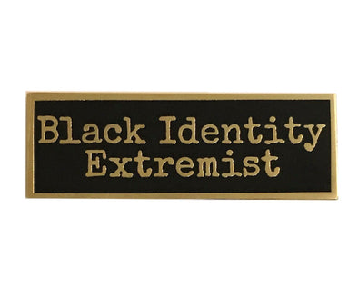 Black Identity Lapel Pin - Radical Dreams Pins