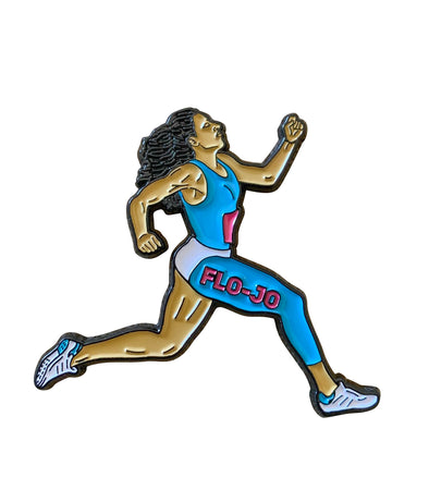 Flo Jo Running Lapel Pin
