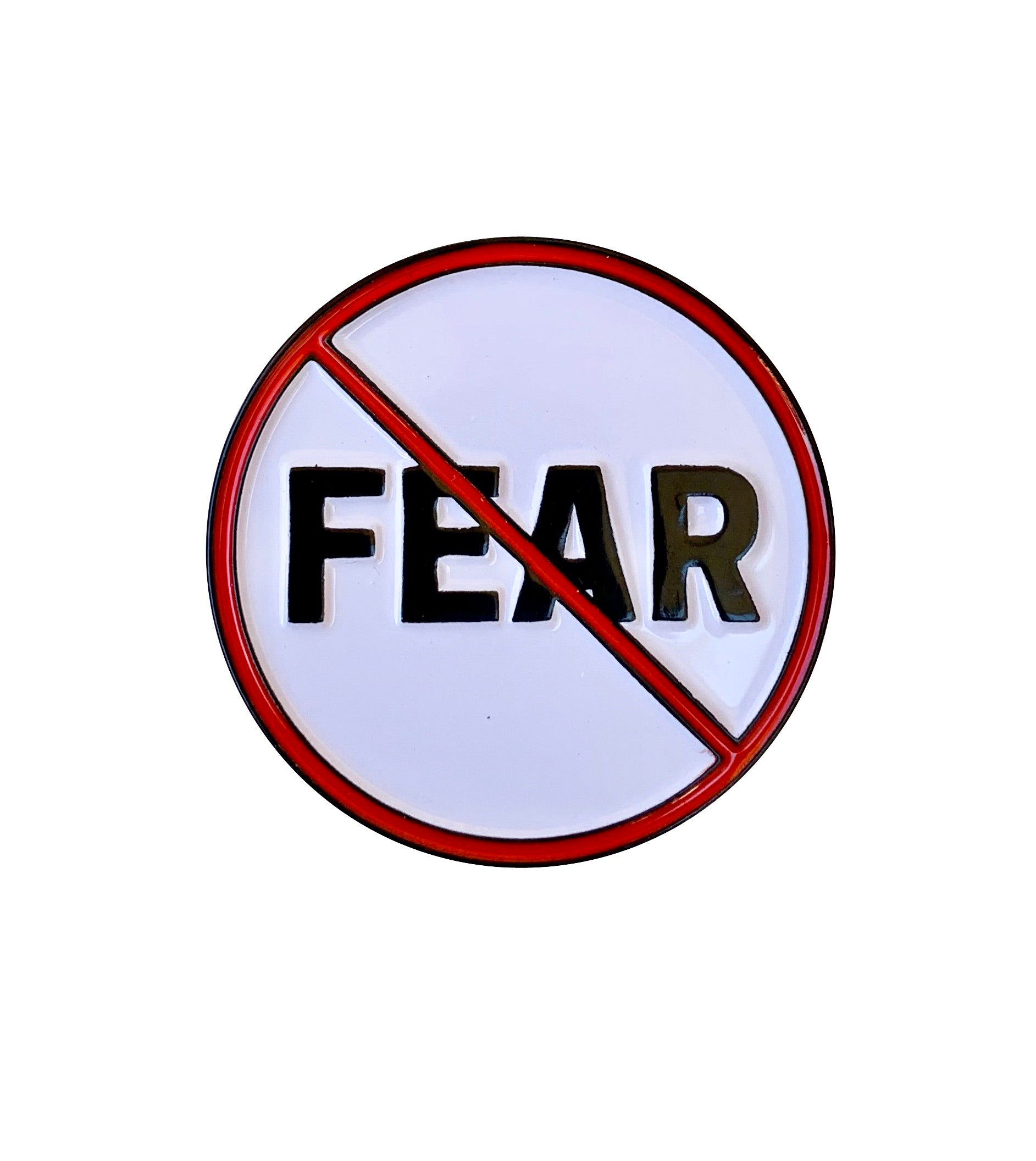 No Fear Lapel Pin