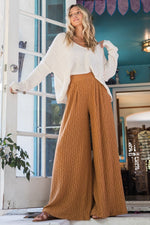 Lounge Ribbed Wide Leg