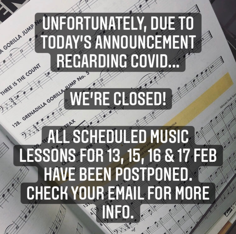 IMPORTANT LIVING MUSIC TUITION UPDATE