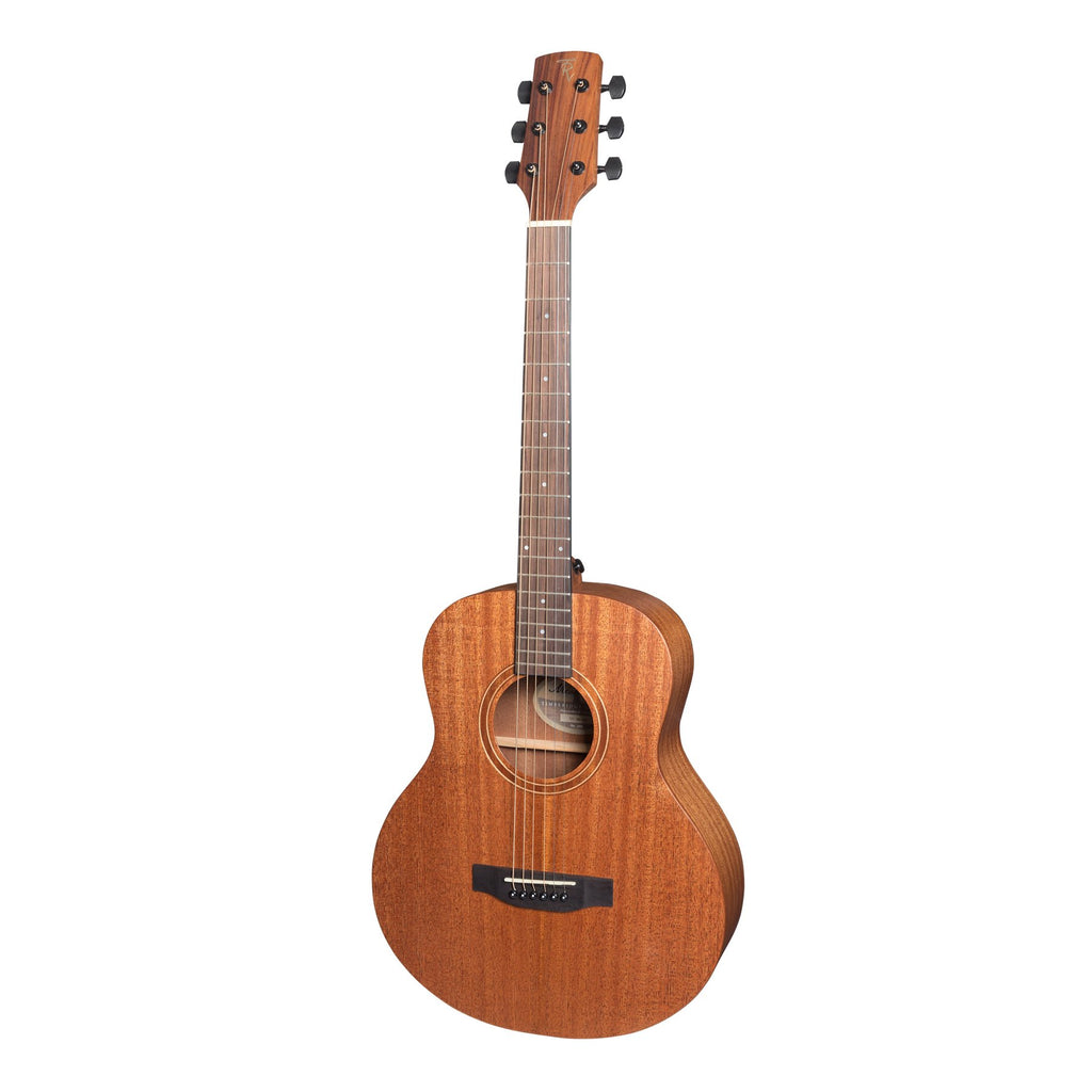TRT-MM-NST-wrongTimberidge 'Messenger Series' Solid Mahogany Top TS-Mini Acoustic-Electric Guitar (Natural Satin)-Living Music