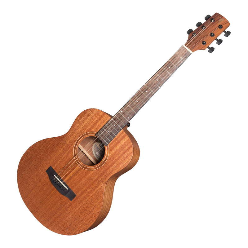 TRT-MM-NST-Timberidge 'Messenger Series' Solid Mahogany Top TS-Mini Acoustic-Electric Guitar (Natural Satin)-Living Music