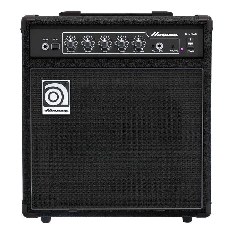 BA-108V2-Ampeg BA-108 V2 20 Watt Combo Bass Amplifier-Living Music
