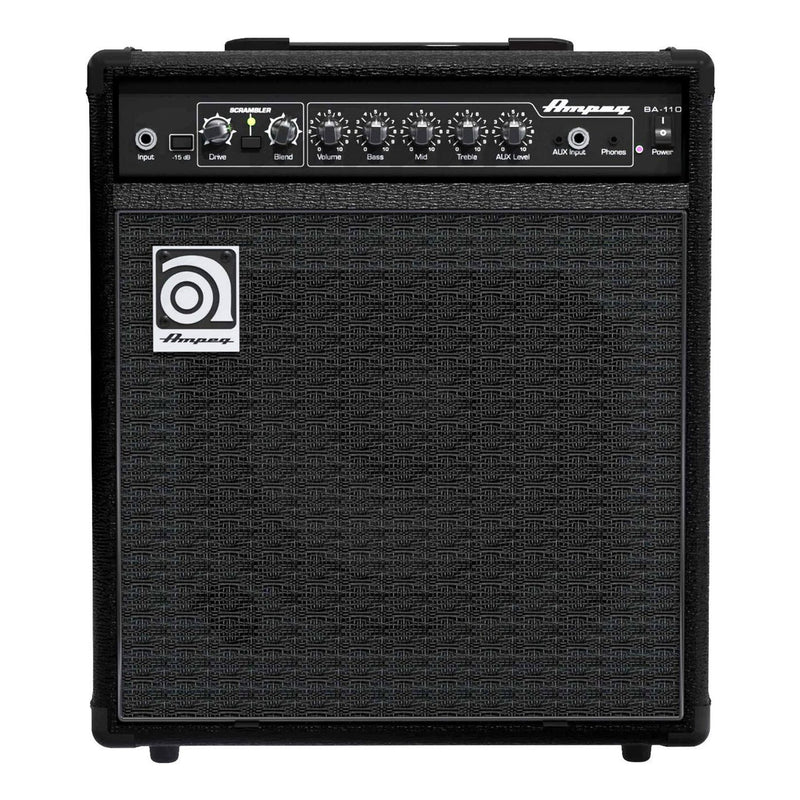 BA-110V2-Ampeg BA-110 V2 40 Watt Combo Bass Amplifier-Living Music